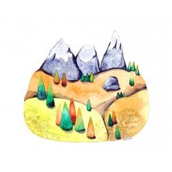 Dolomites III : Watercolour...